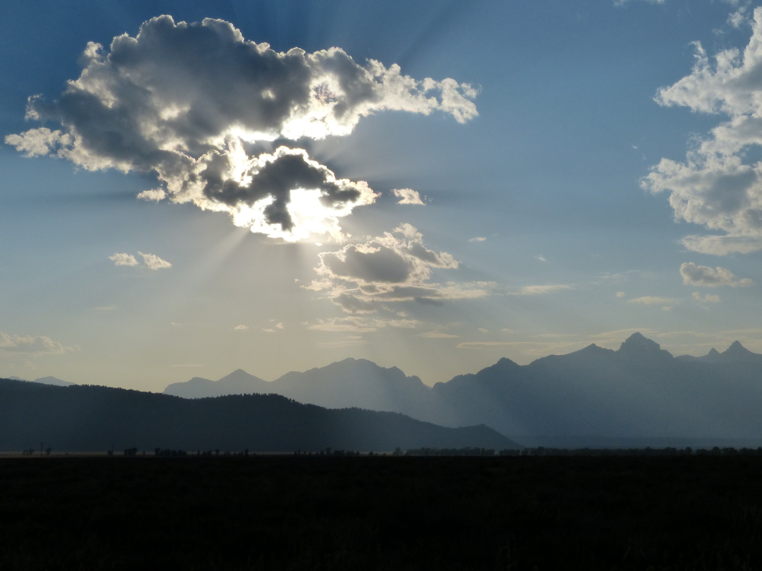 Zonsondergang in Grand Teton National Park